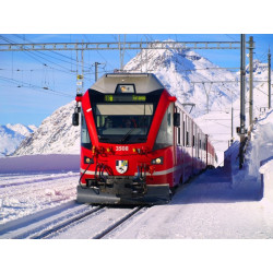 Trenino Bernina in inverno